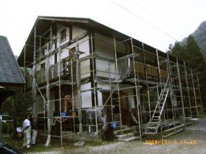 ホタテ外壁工法完成か。