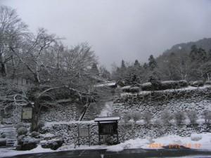 雪の百済寺貴見院