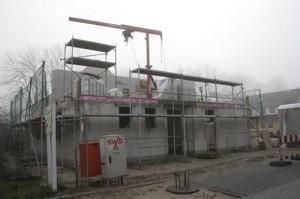 鉄筋住宅建設中