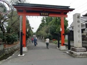 日吉宮の門